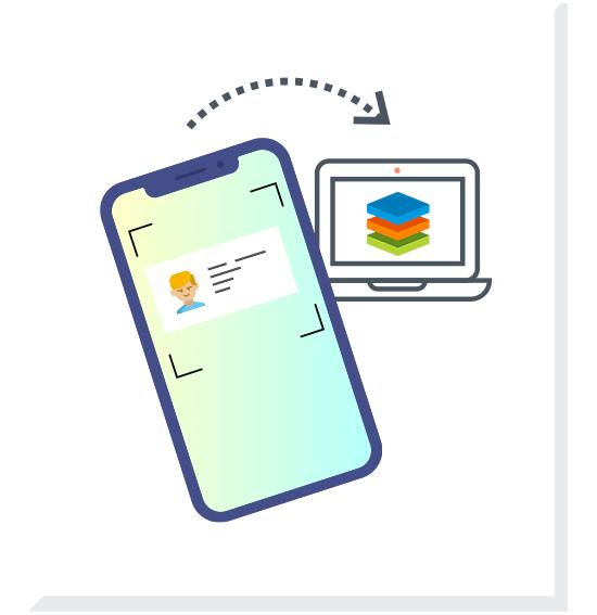 Visitenkarten automatisch in CRM-Tool eingeben