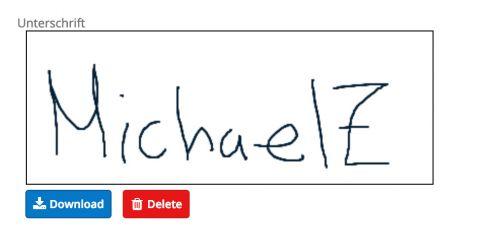 Custom Feld-Typ für Unterschriften
