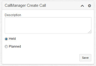 Call Manager Notes Dashlet