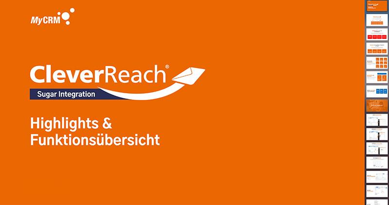 CleverReach-Integration für Sugar – Funktionen und Highlights