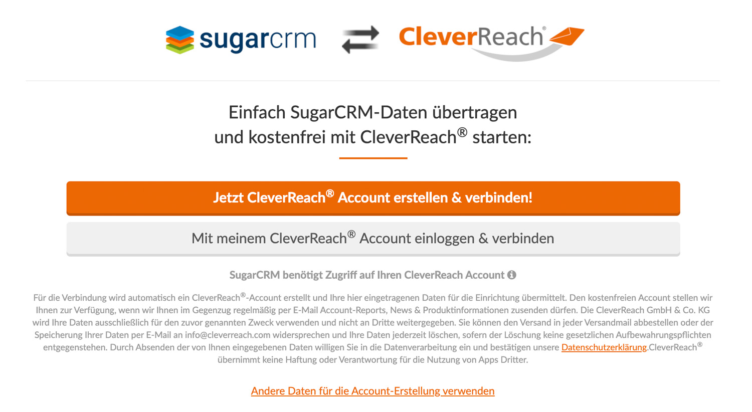 CleverReach oAuth