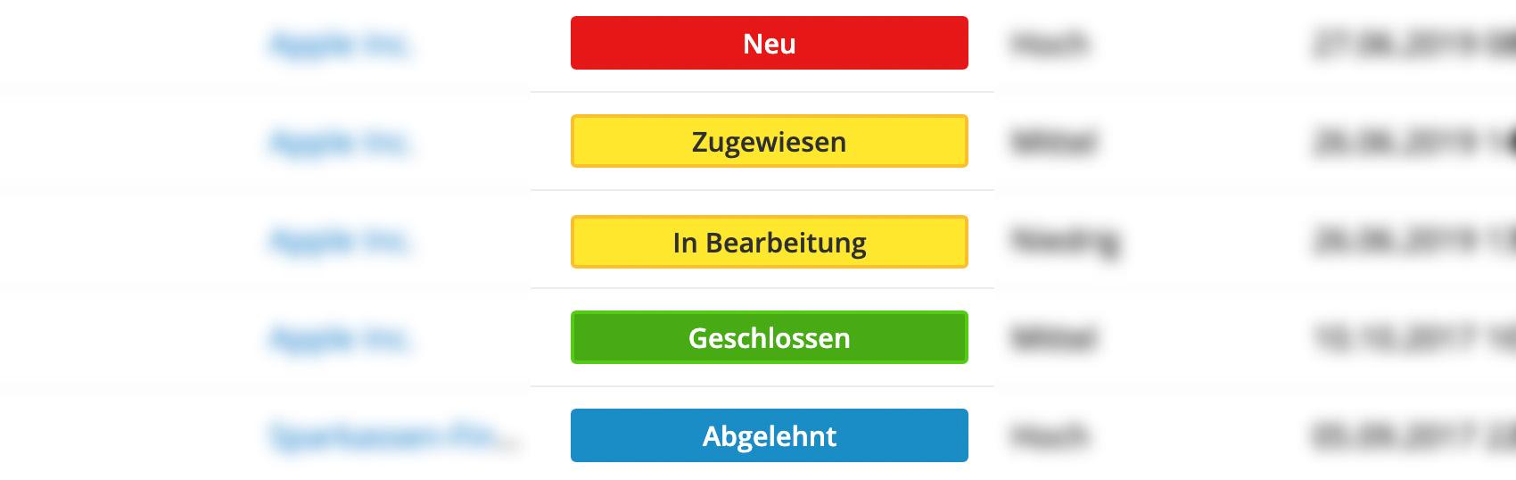 "Color-Coding für das ""Status"" Feld in dem Tickets Modul"
