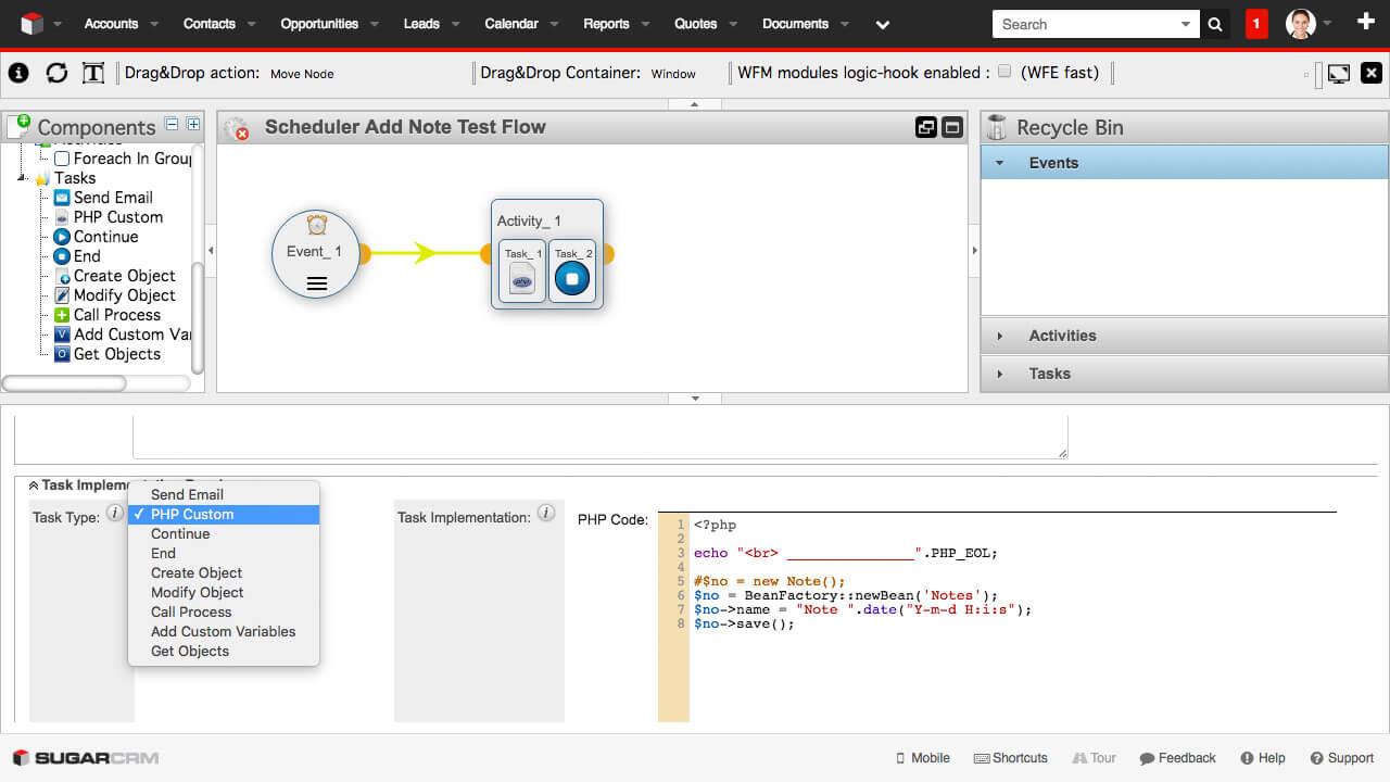 Enterprise Workflow Manager - Custom Code