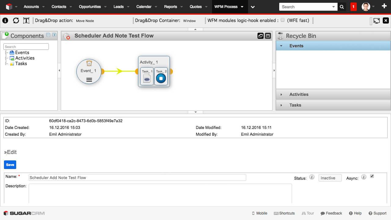 Enterprise Workflow Manager - Editor