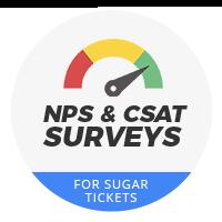 NPS & CSAT Surveys for Sugar Tickets
