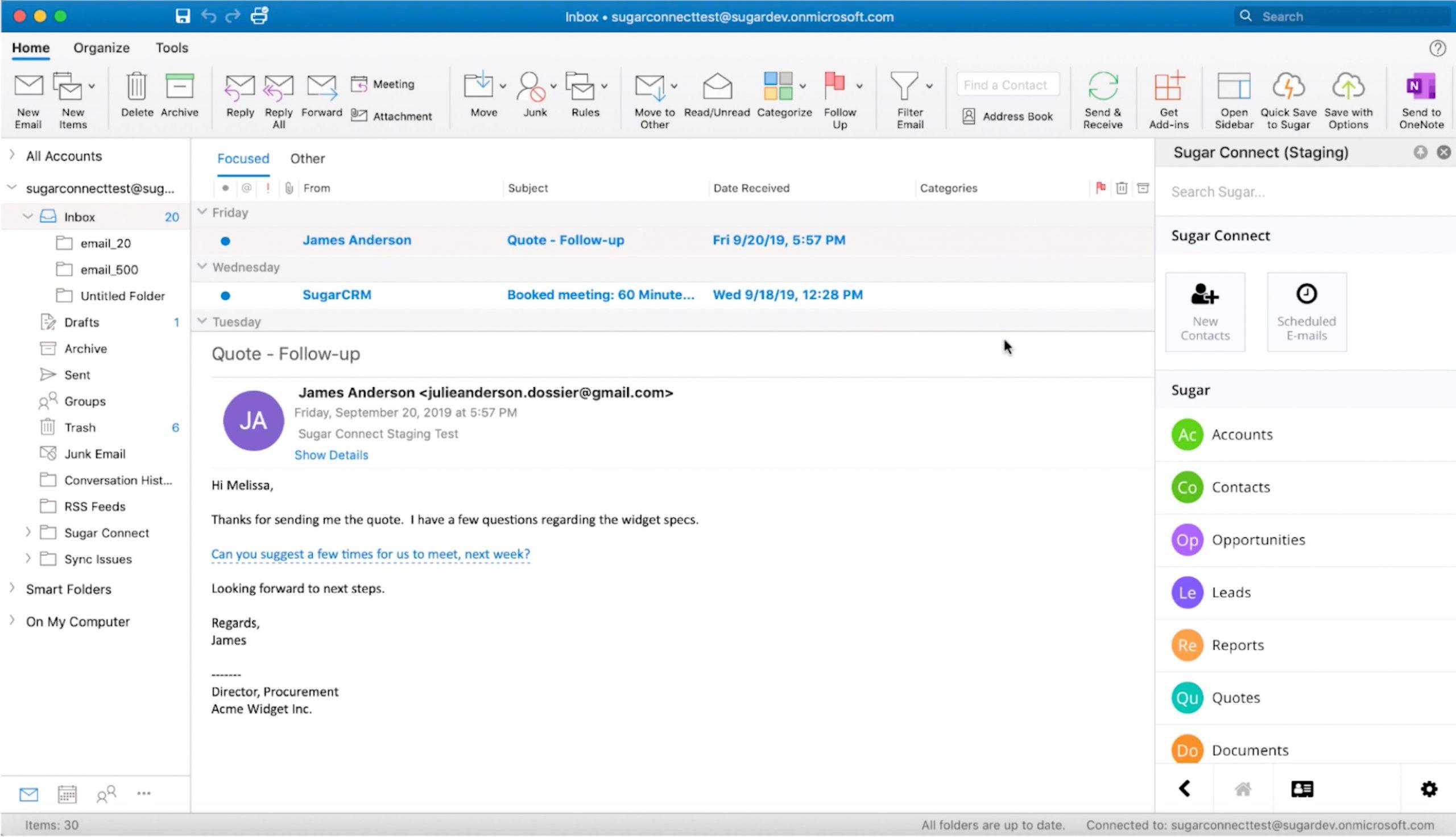 Sugar Connect - Integriert Sugar mit G-Suite und Office 365