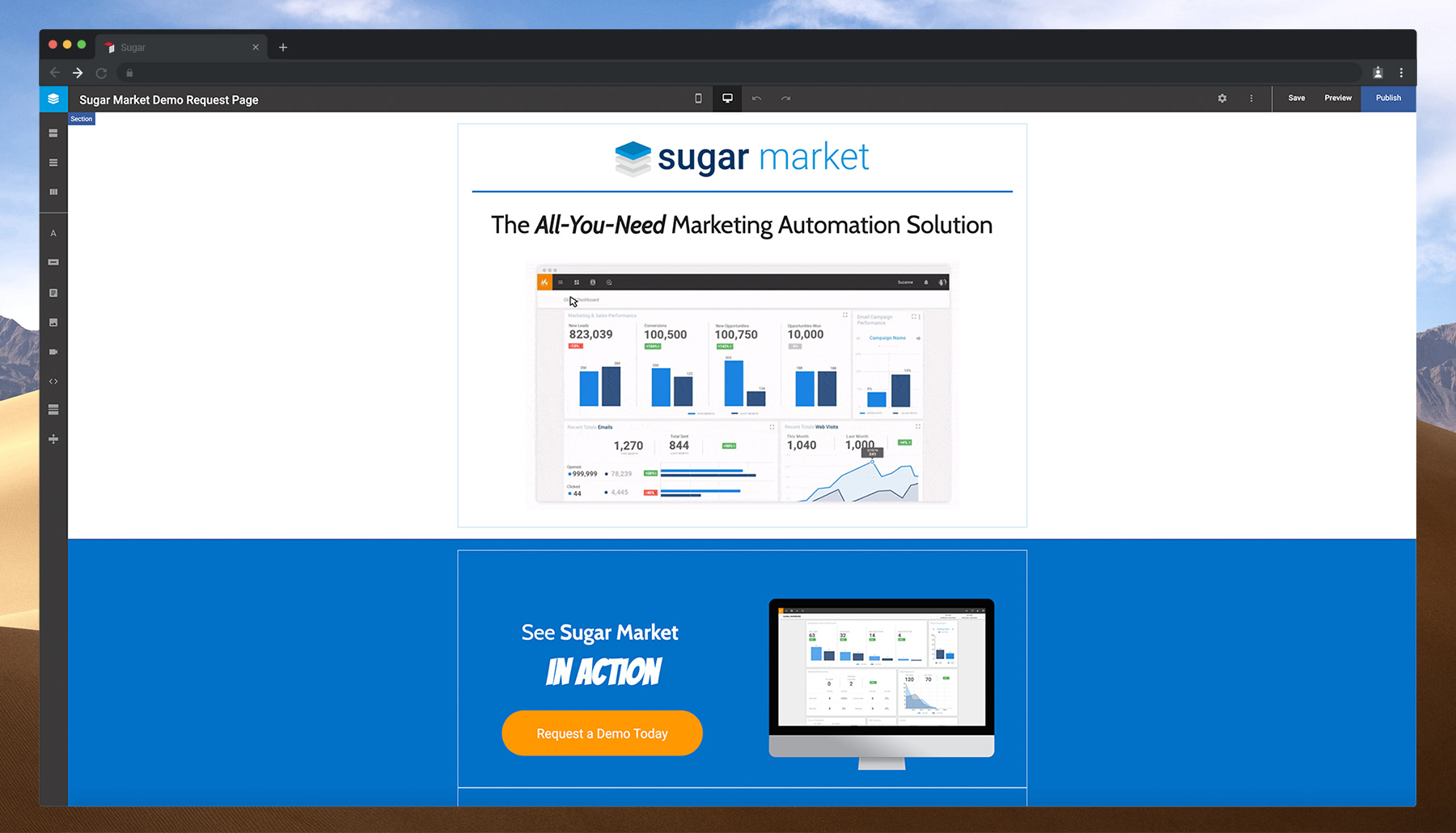 Sugar Market - Landing-Page and Forms Builder